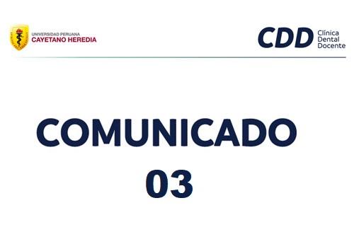 Comunicado #03